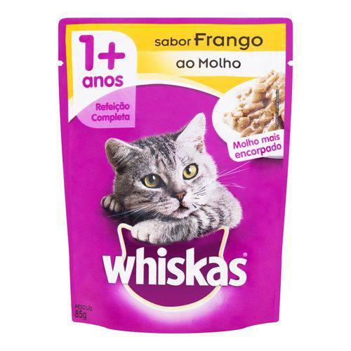 Alimento para Gatos Whiskas de Frango Sachê 85 G