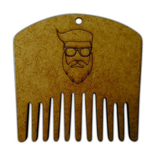 Alinhador e Pente Modelador para Barba de Madeira Barbeiro