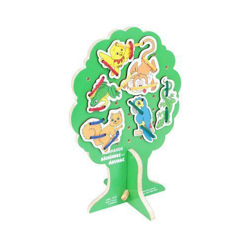 Alinhavos com 10 Bichinhos na Árvore em Mdf 1812 - Carlu