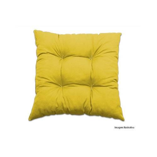 Almofada 4 Pesponto Amarela 45x45 Cm