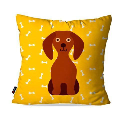 Almofada Avulsa Amarelo Dog Frente Costa