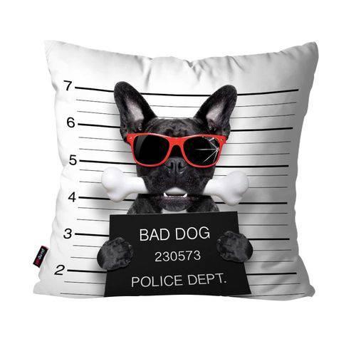 Almofada Avulsa Branco Cachorro Bad Dog