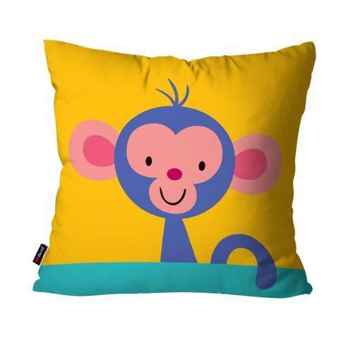 Almofada Avulsa Infantil Amarelo Macaco
