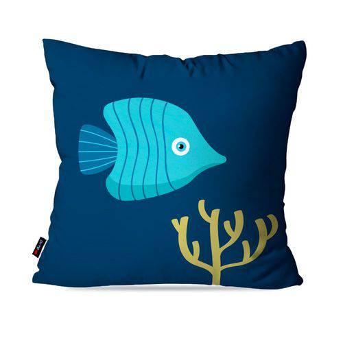 Almofada Avulsa Infantil Azul Fundo do Mar