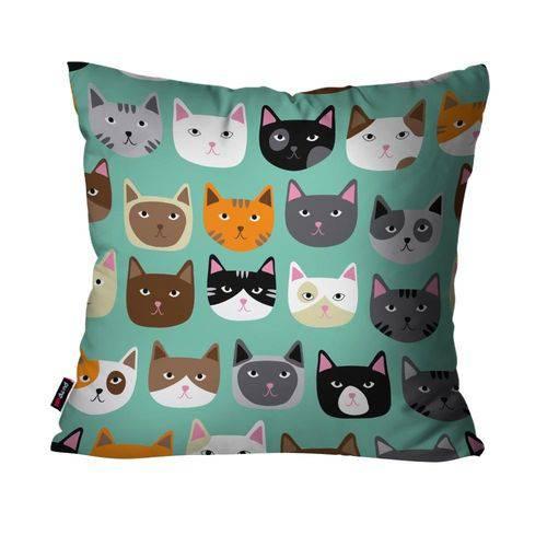 Almofada Avulsa Verde Multi Cats
