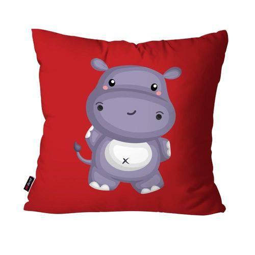 Almofada Avulsa Vermelho Hipopótamo