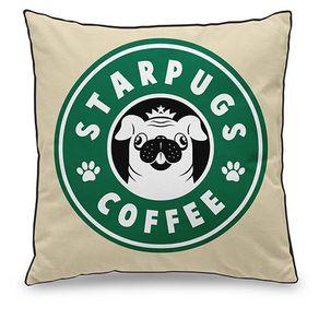 Almofada Cachorro Pug Starbucks