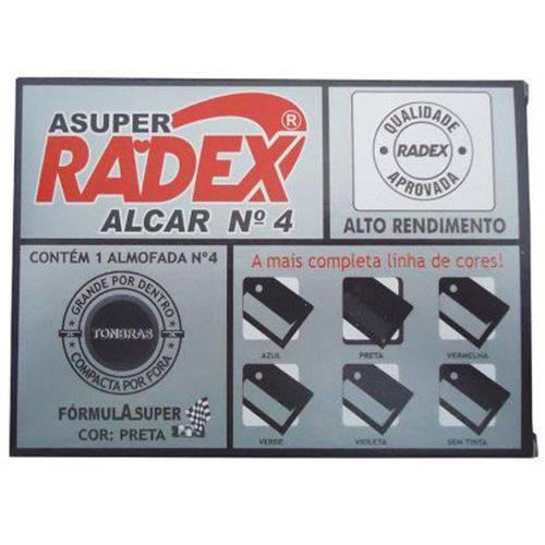 Almofada Carimbo N.4 Preta Radex