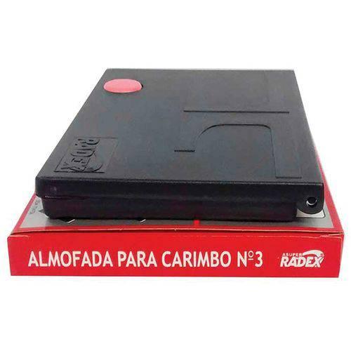 Almofada Carimbo N.3 Vermelha (7897254101248)