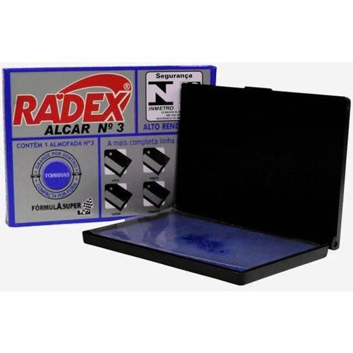 Almofada Carimbo Radex No. 03 Azul