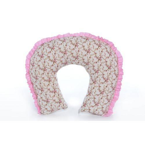 Almofada de Amamentação Floral com Rosa