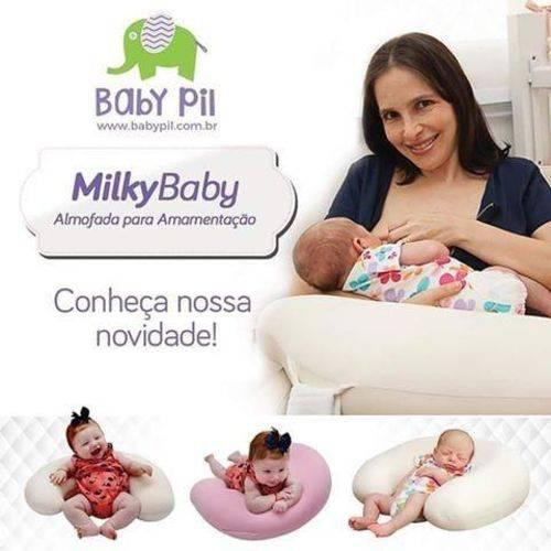 Almofada de Amamentação Milky Baby Cinza Baby Pil