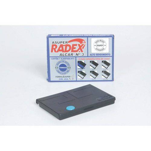 Almofada de Carimbo Radex Nº 3 Azul