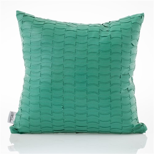 Almofada de Couro Textura Verde Verde 0.45X0.45