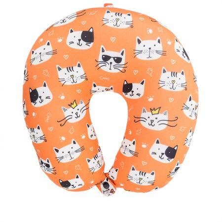 Almofada de Pescoço STZ Cats Laranja -