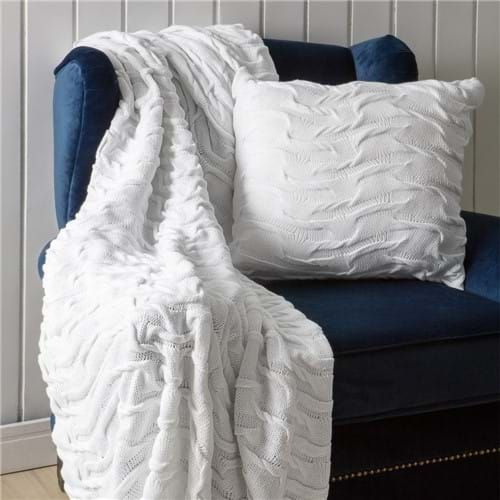 Manta de Tricot Camadas Branca 1,25 X 2,25CM