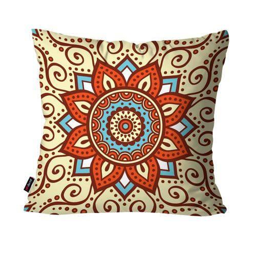 Almofada Decorativa Avulsa Bege Mandala