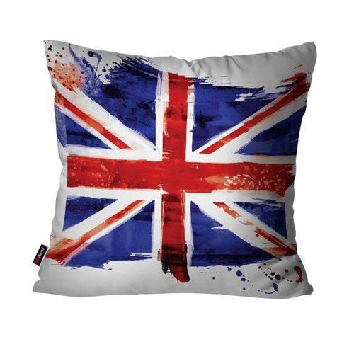 Almofada Decorativa Avulsa Branco Bandeira da União
