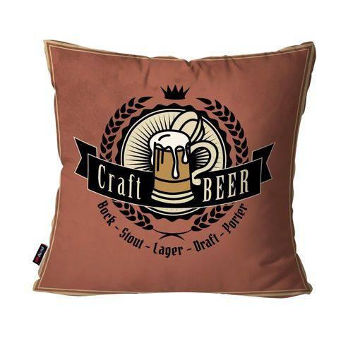 Almofada Decorativa Avulsa Camurça Craft Beer