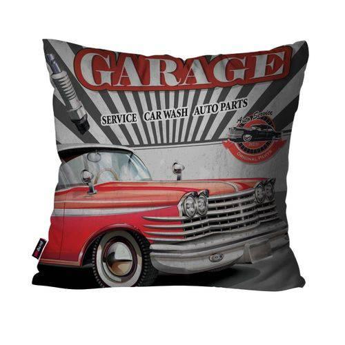 Capa de Almofada Decorativa Avulsa Cinza Carro Garage