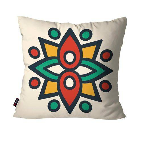 Almofada Decorativa Avulsa Off White Mandala