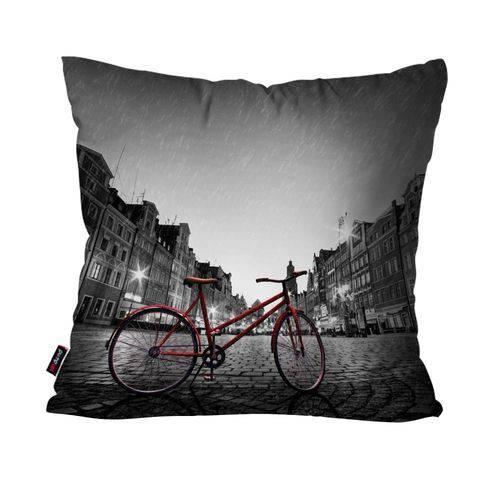 Almofada Decorativa Avulsa Preto Bicicleta