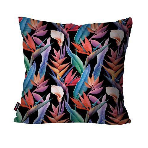 Almofada Decorativa Avulsa Preto Natureza Colorida