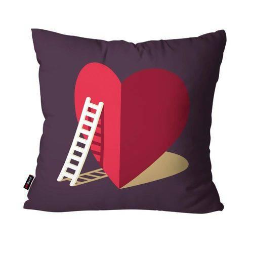 Almofada Decorativa Avulsa Roxo Coração
