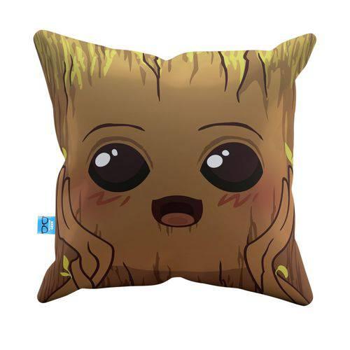 Almofada Decorativa Baby Groot Minimalista Pelúcia 40x40 Almofadageek