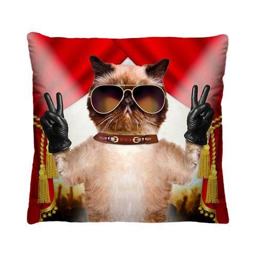 Almofada Decorativa Gato com Refil 40x40