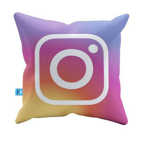 Almofada Decorativa Instagram Nova Pelúcia 40x40 Almofadageek