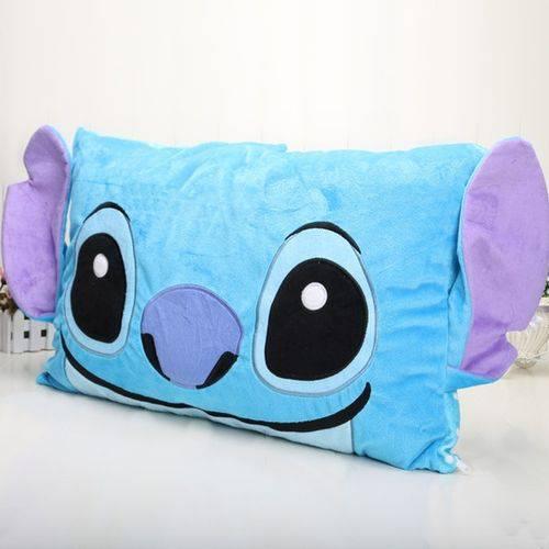 Almofada Decorativa Lillo Stitch Pelúcia Azul