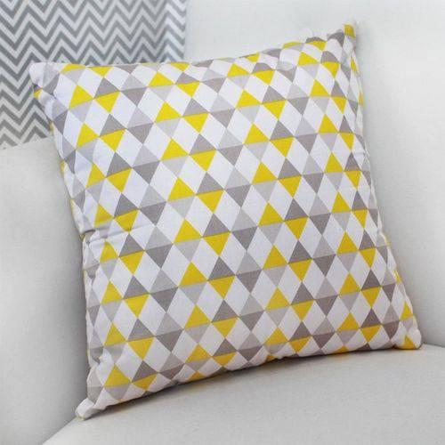 Almofada Decorativa Losango Amarelo 100% Algodão