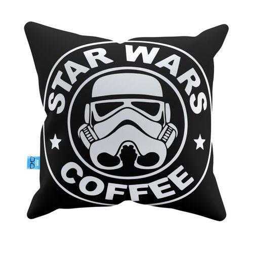 Almofada Decorativa Star Wars Coffee Pelúcia 40x40 Almofadageek