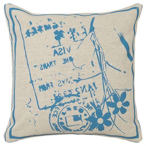 Almofada Estampada 40x40cm Azul