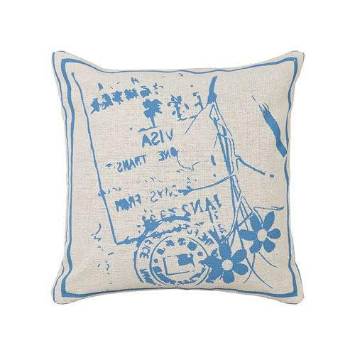 Almofada Estampada de 40 X 40 Cm Azul Ii