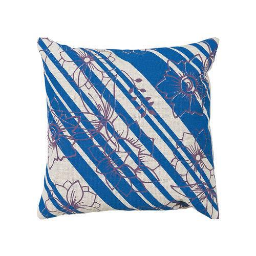 Almofada Estampada de 40 X 40 Cm Azul Iii
