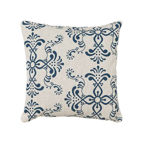 Almofada Estampada de 40 X 40 Cm Azul
