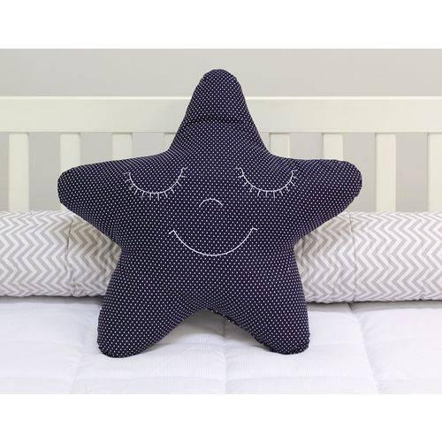 Almofada Estrela Poá Marinho