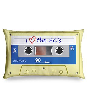 Almofada Fita Cassete K7 Retrô - I Love The 80\'s