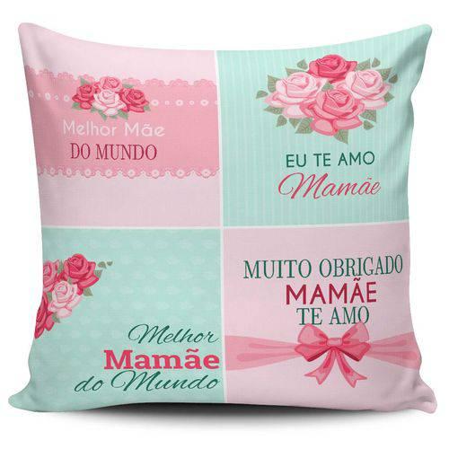 Almofada Melhor Mãe do Mundo 28 X 28 Cm