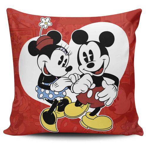 Almofada Mickey e Minnie Coração Vintage