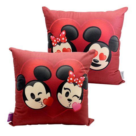 Almofada Mickey e Minnie Emoji