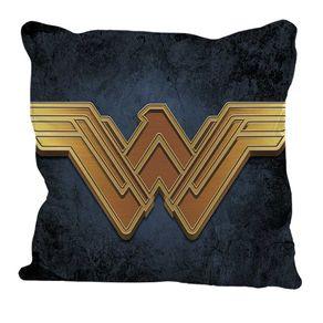 Almofada Mulher Maravilha Logo Dourada DC Comics