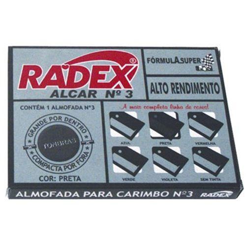 Almofada P/ Carimbo Nº 3 Preto - Radex 1019019