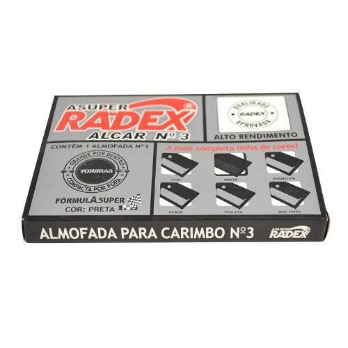 Almofada P/ Carimbo Radex Asuper Nº3 Preto ALF03PR
