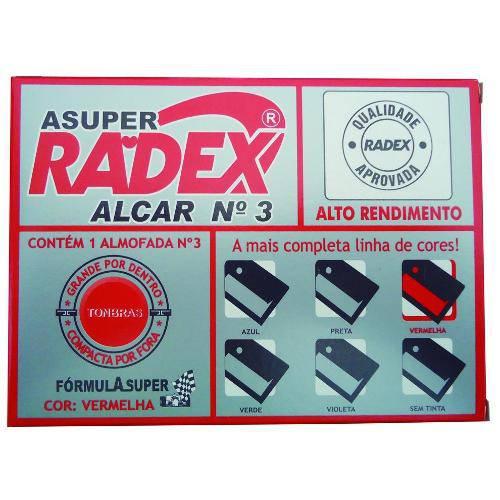 Almofada P/ Carimbo Radex Asuper Nº3 Preto Alf03vm