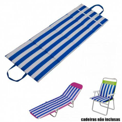 Almofada para Cadeira de Praia e Espreguicadeira Listrada Azul Mor