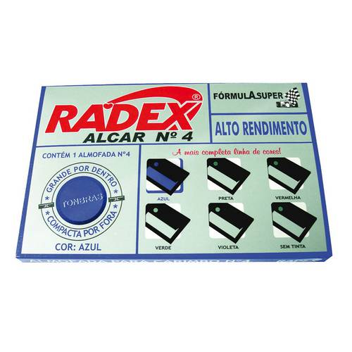 Almofada para Carimbo Nº 4 Radex