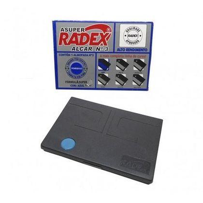 Almofada para Carimbo N°3 Azul Radex Radex